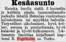 Heinolan Sanomat nro 33, 31.5.1911